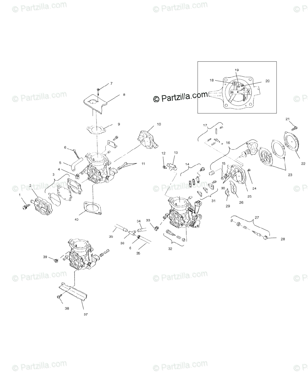 Polaris Watercraft 2000 OEM Parts Diagram for Carburetor