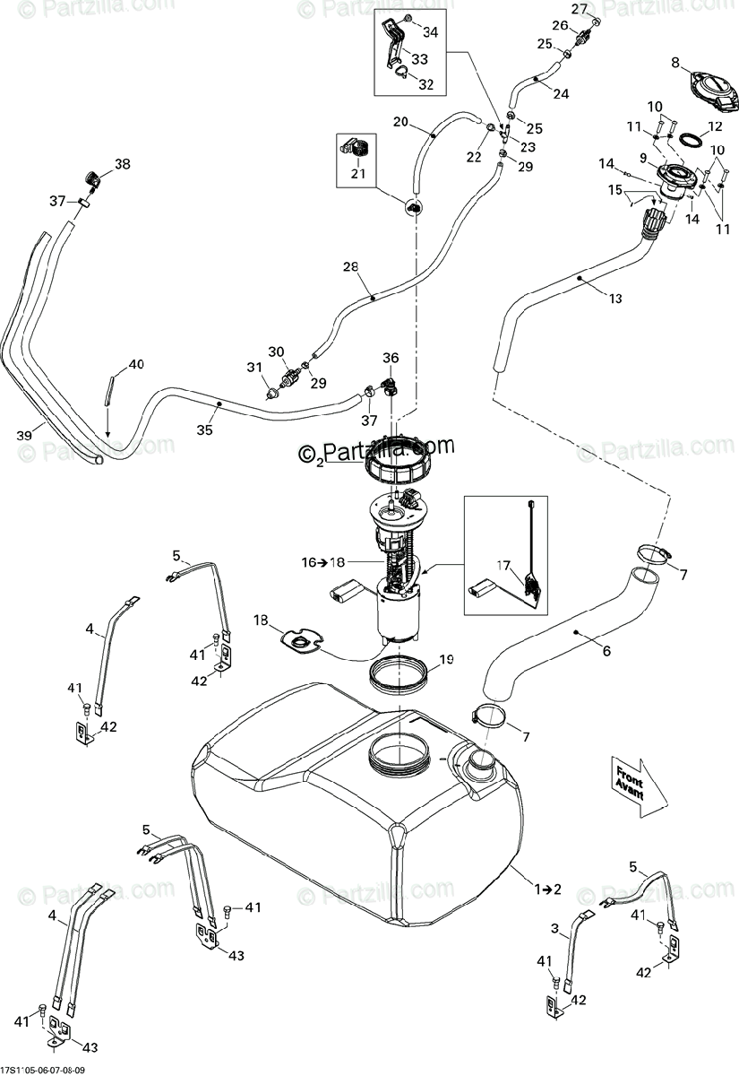 Sea-Doo 2011 RXT-X 260 & RS OEM Parts Diagram for Fuel