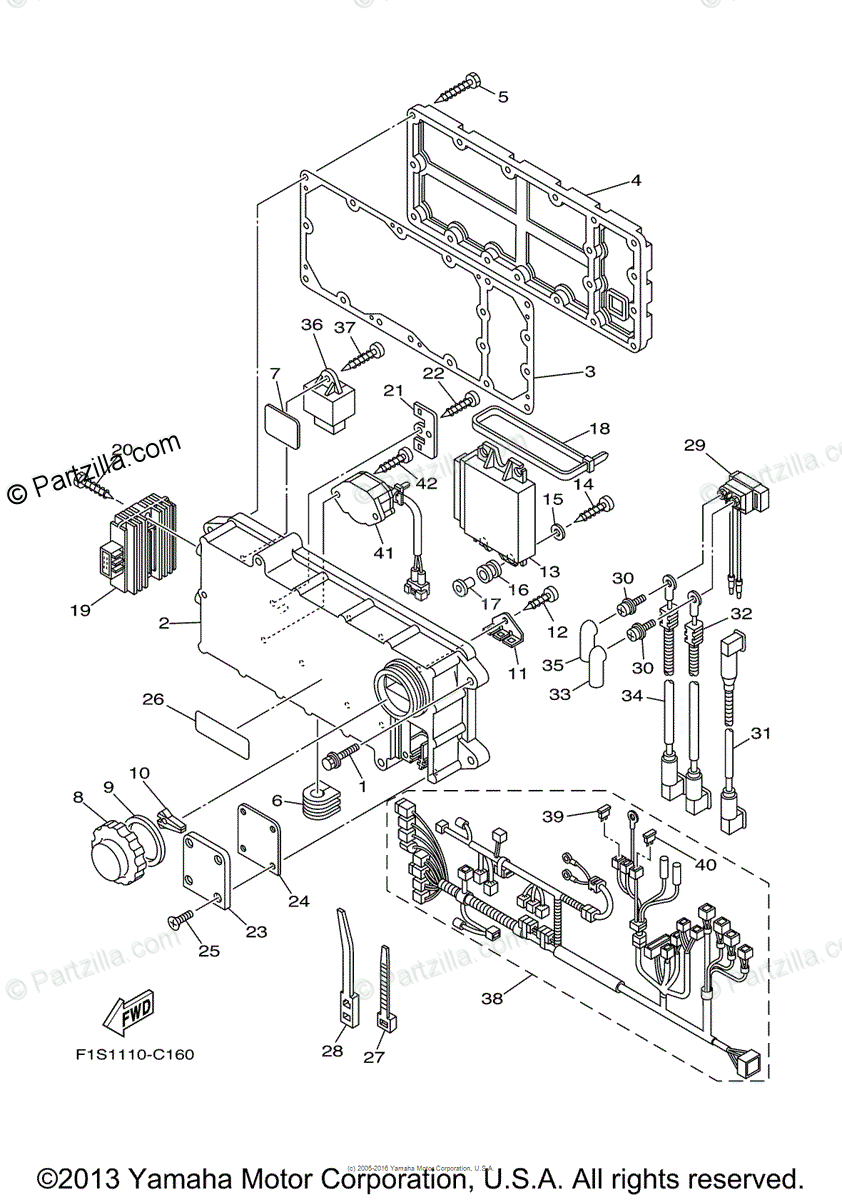 Yamaha Waverunner 2004 OEM Parts Diagram for Electrical