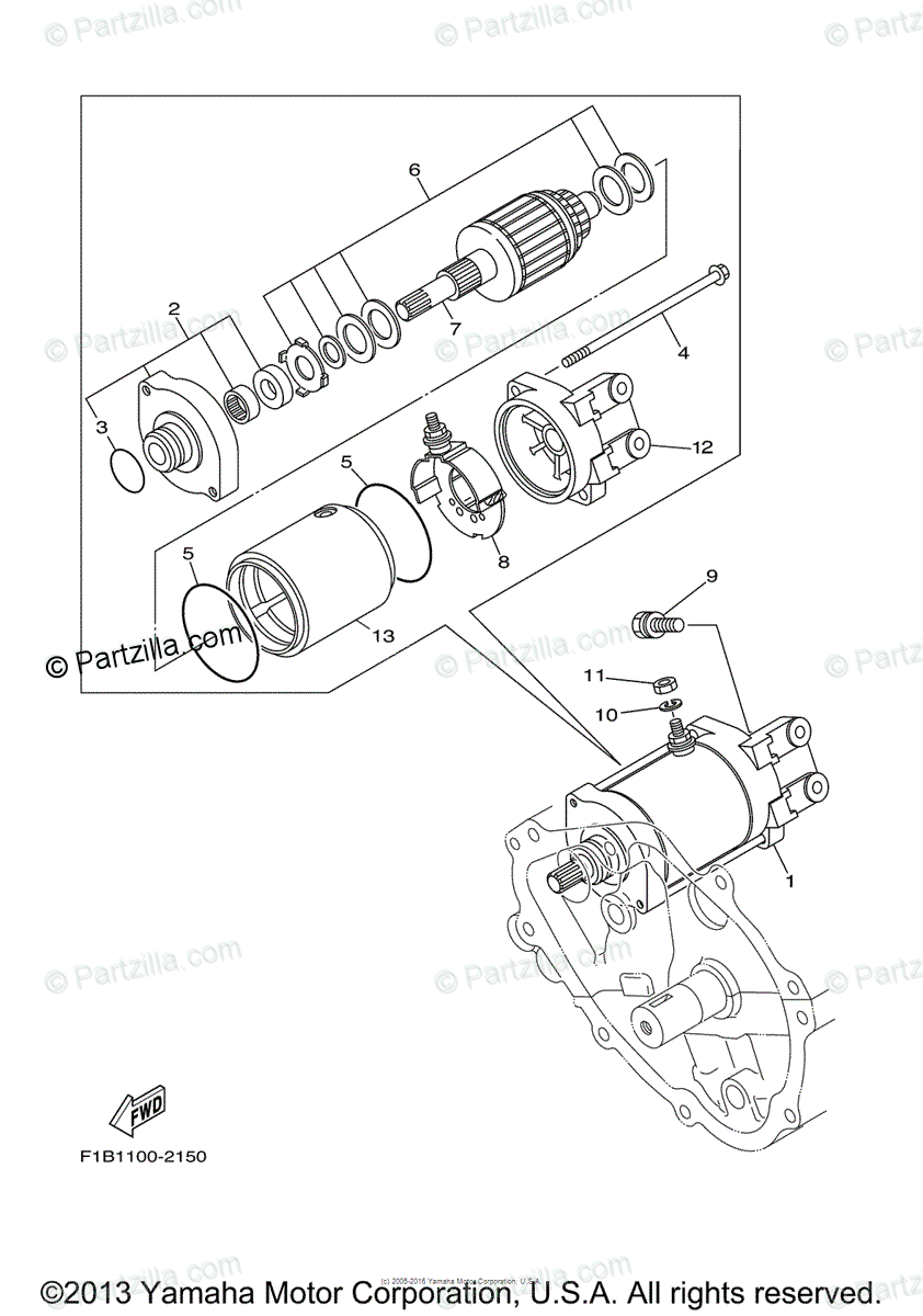 Yamaha Waverunner 2007 OEM Parts Diagram for Starting
