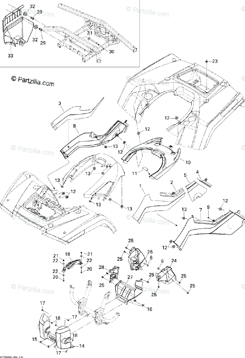 Can-Am ATV 2008 OEM Parts Diagram for Body And Accessories