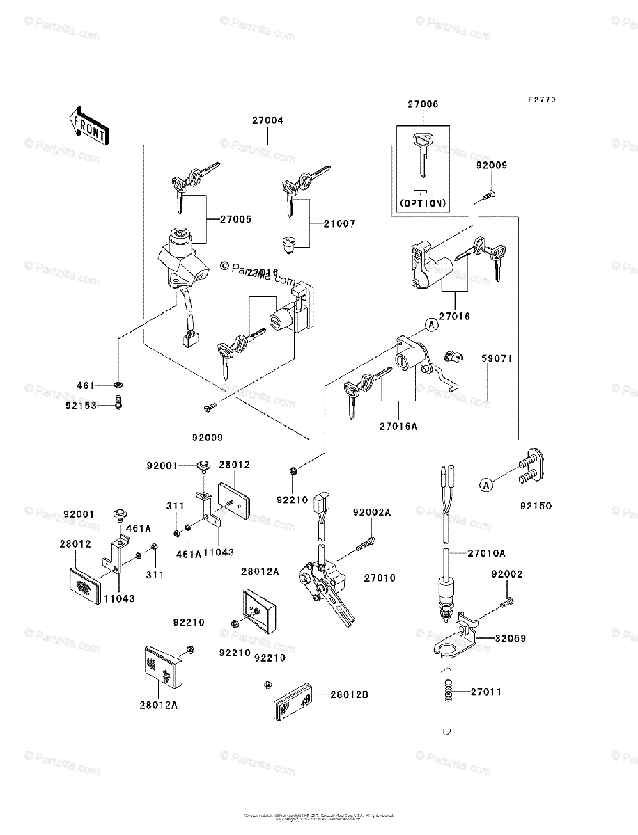 Kawasaki Motorcycle 2008 OEM Parts Diagram for Ignition