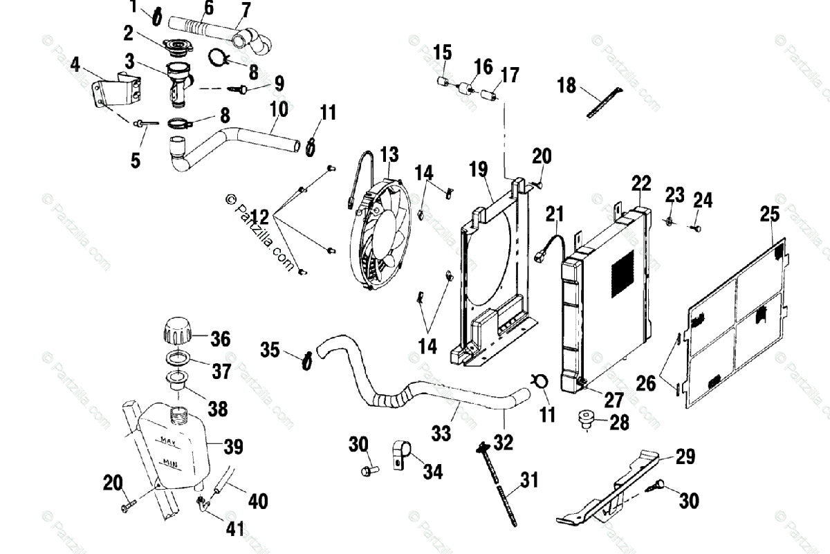 Polaris Atv Oem Parts Diagram For Cooling System