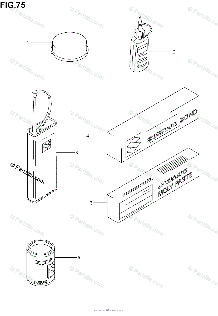 Suzuki Scooter 2004 OEM Parts Diagram for Optional