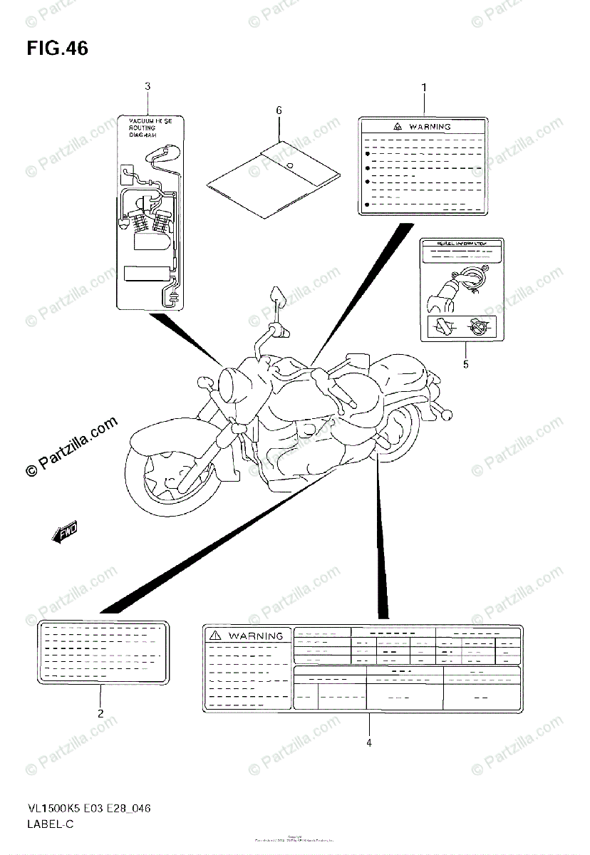 Suzuki Motorcycle 2005 OEM Parts Diagram for Label