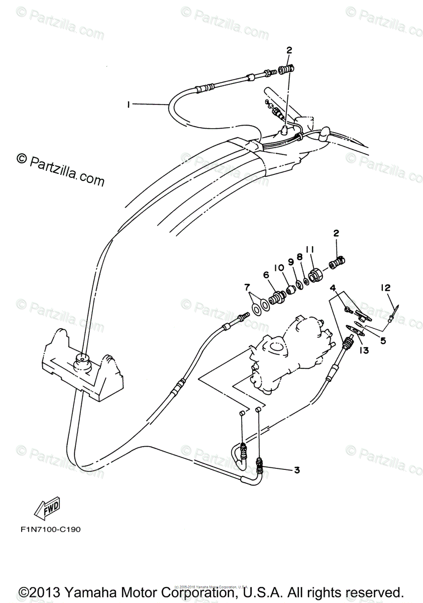 Yamaha Waverunner 2005 OEM Parts Diagram for Control