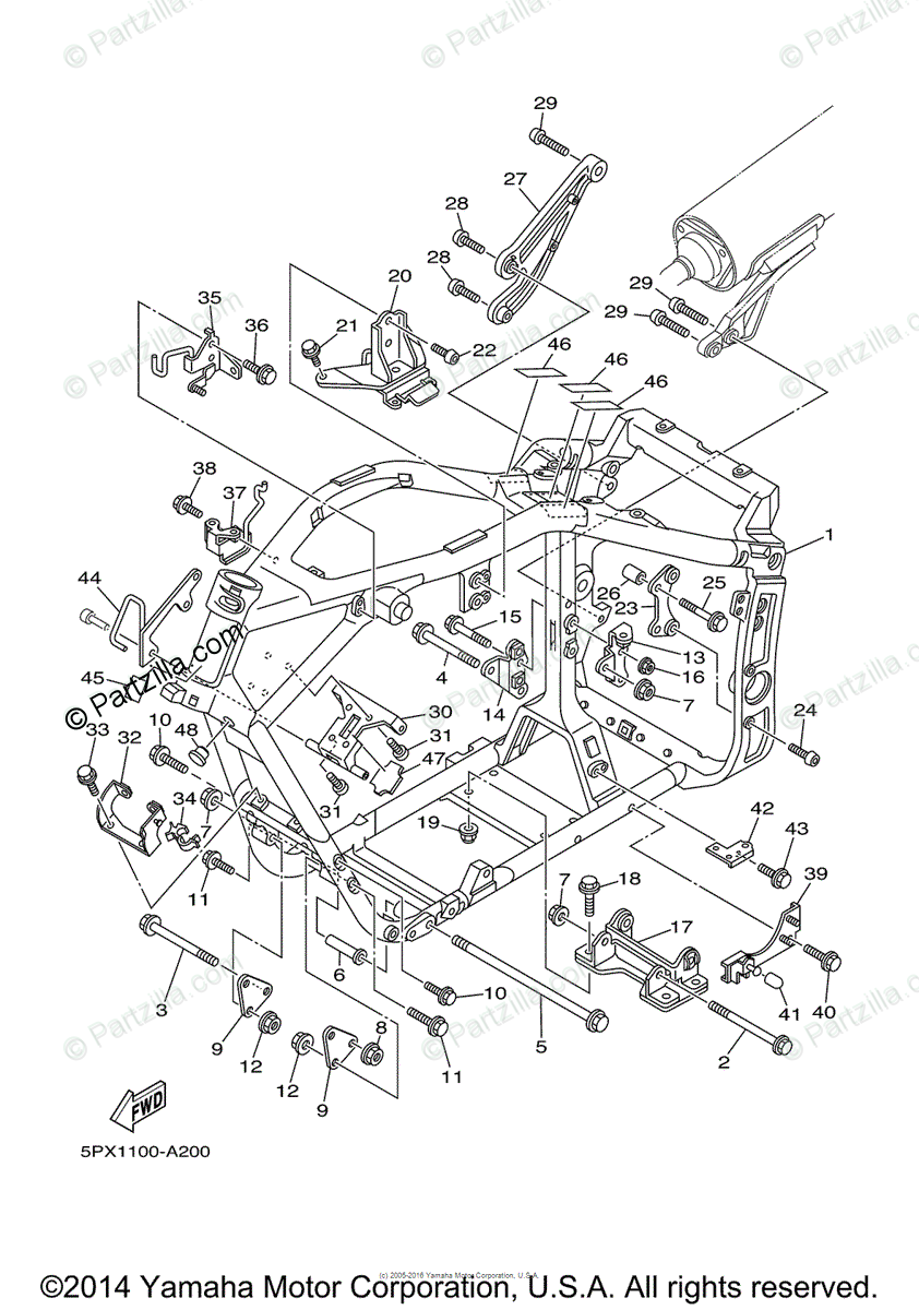 hight resolution of yamaha motorcycle 2003 oem parts diagram for frame partzilla com