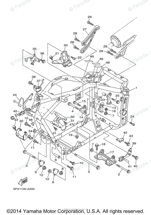 small resolution of yamaha motorcycle 2003 oem parts diagram for frame partzilla com