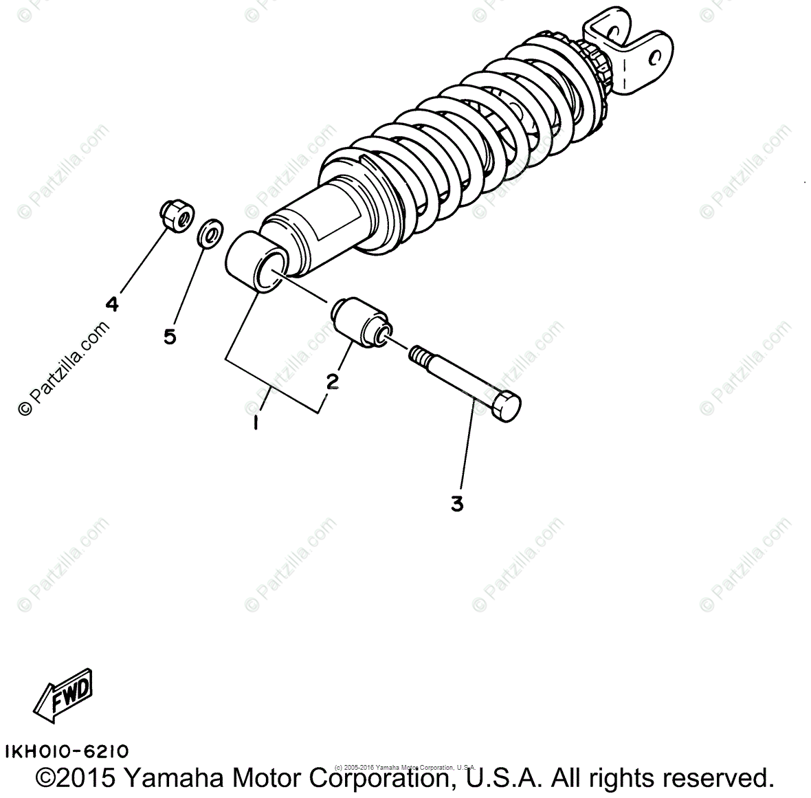 Yamaha Motorcycle 2001 OEM Parts Diagram for Rear