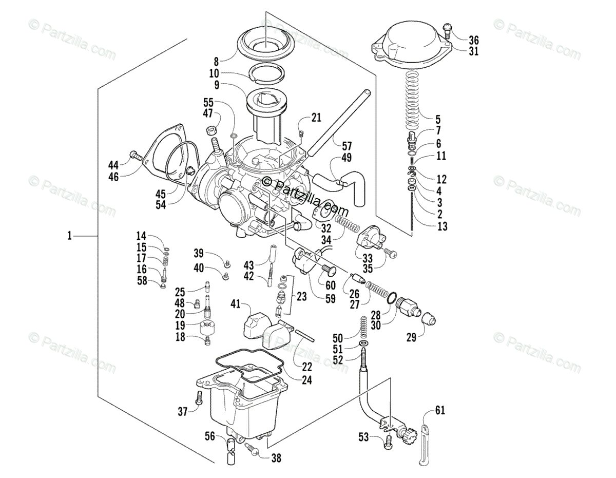 Arctic Cat ATV 2006 OEM Parts Diagram for Carburetor