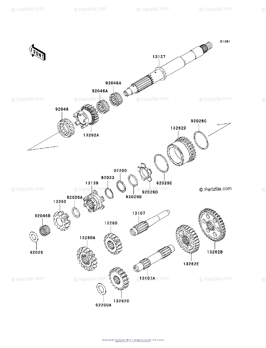 Kawasaki Side by Side 2008 OEM Parts Diagram for