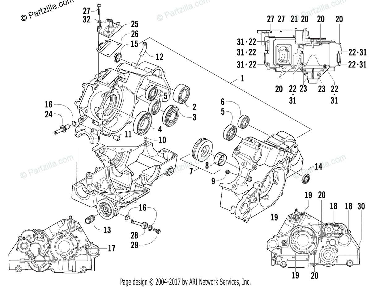 Arctic Cat Side by Side 2009 OEM Parts Diagram for