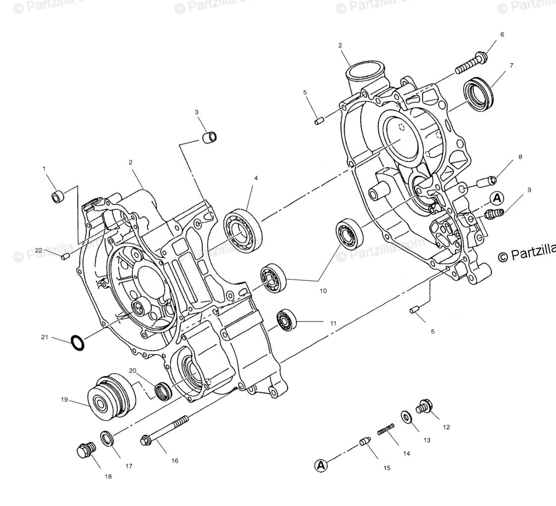 Polaris Atv Oem Parts Diagram For Crankcase