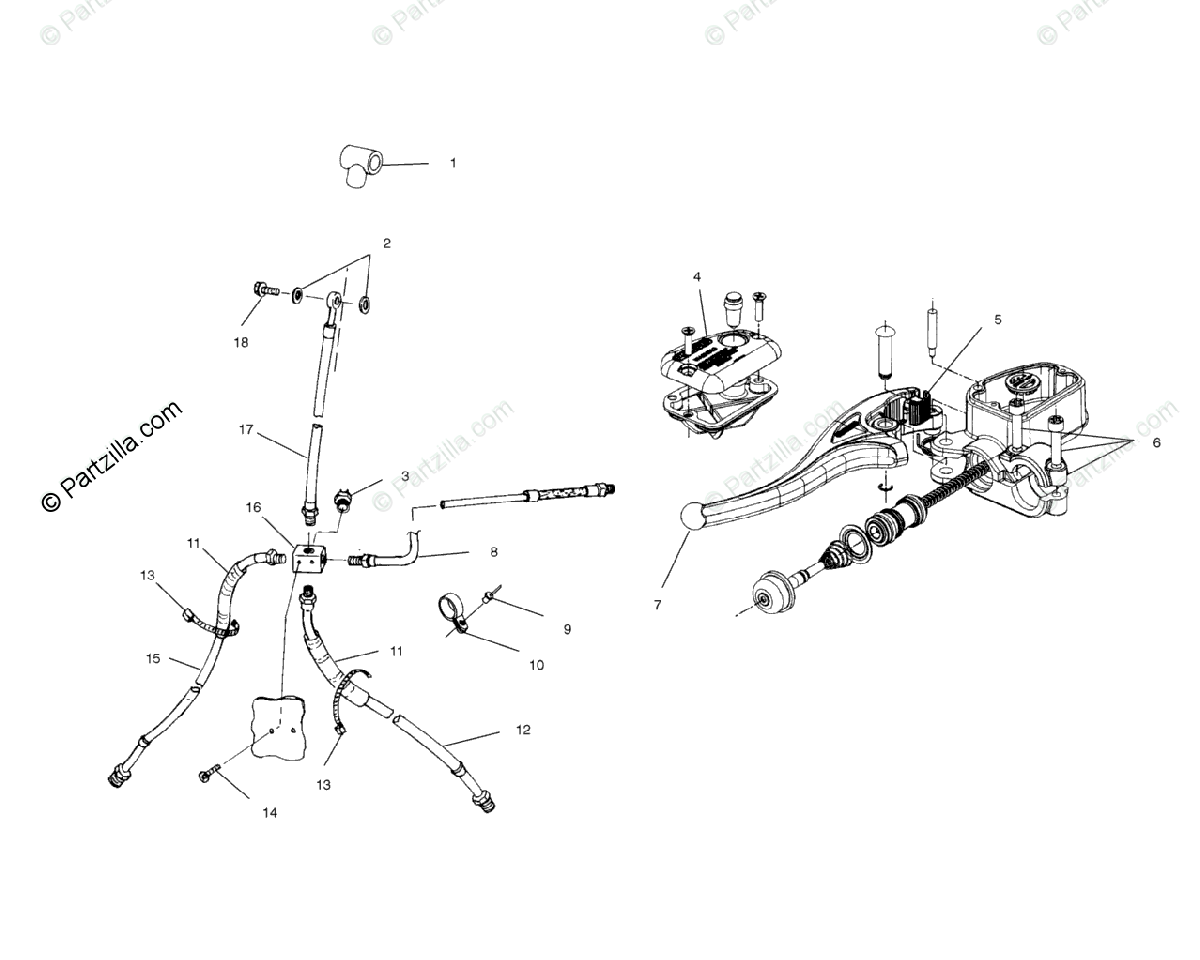 Polaris ATV 2002 OEM Parts Diagram for Controls Master