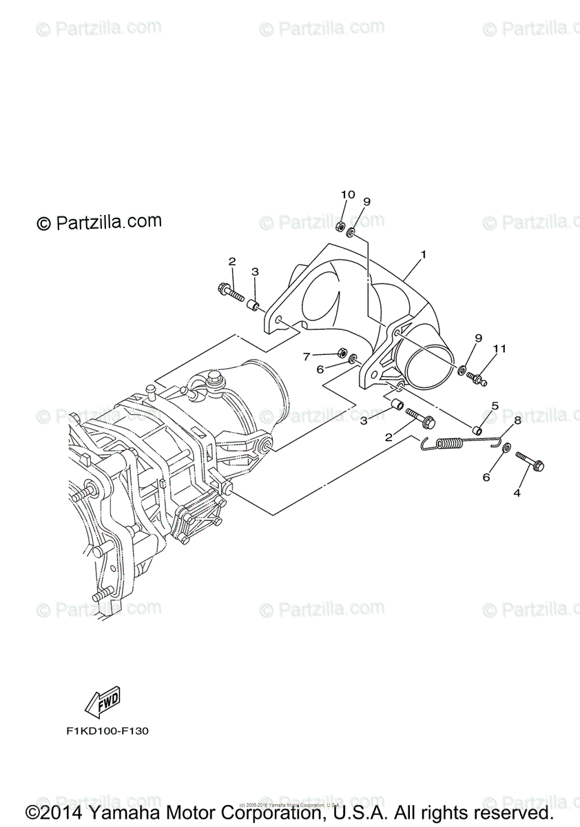 Yamaha Waverunner 2008 OEM Parts Diagram for Jet Unit 3