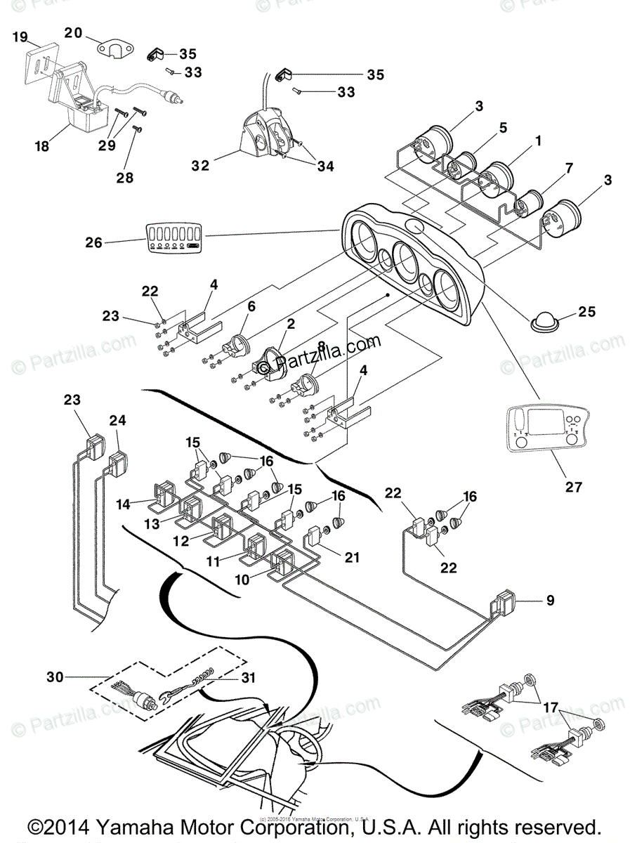 medium resolution of yamaha boat 2006 oem parts diagram for electrical 4 partzilla com