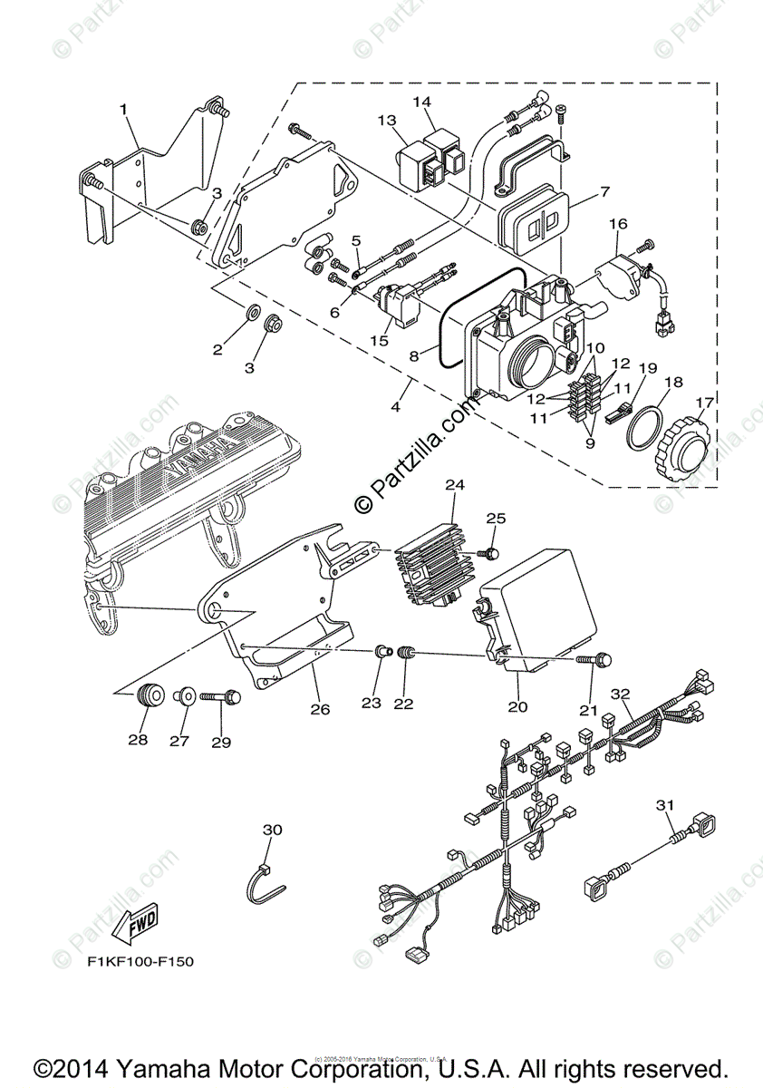 Yamaha Waverunner 2008 OEM Parts Diagram for Electrical