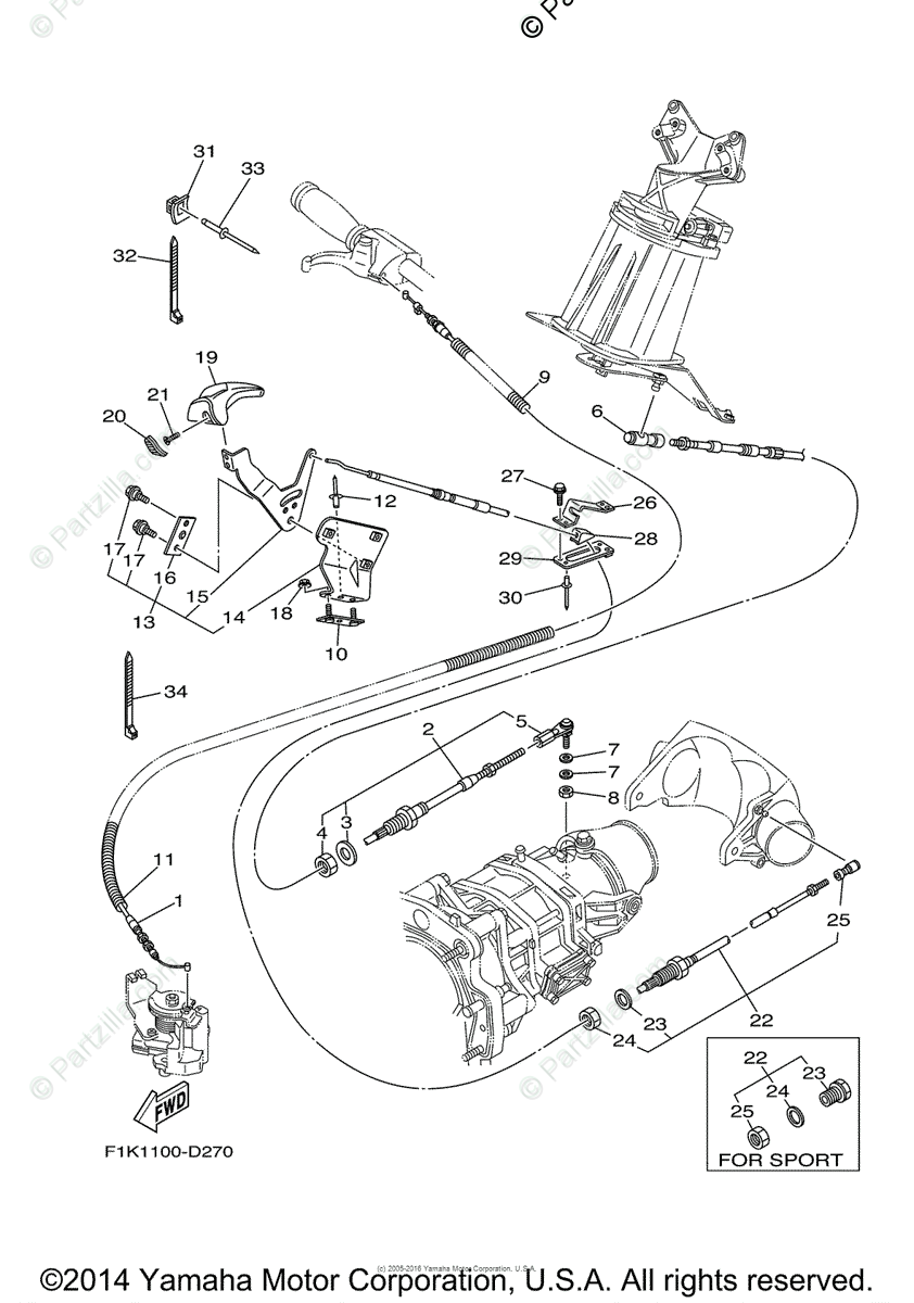 Yamaha Waverunner 2006 OEM Parts Diagram for Control