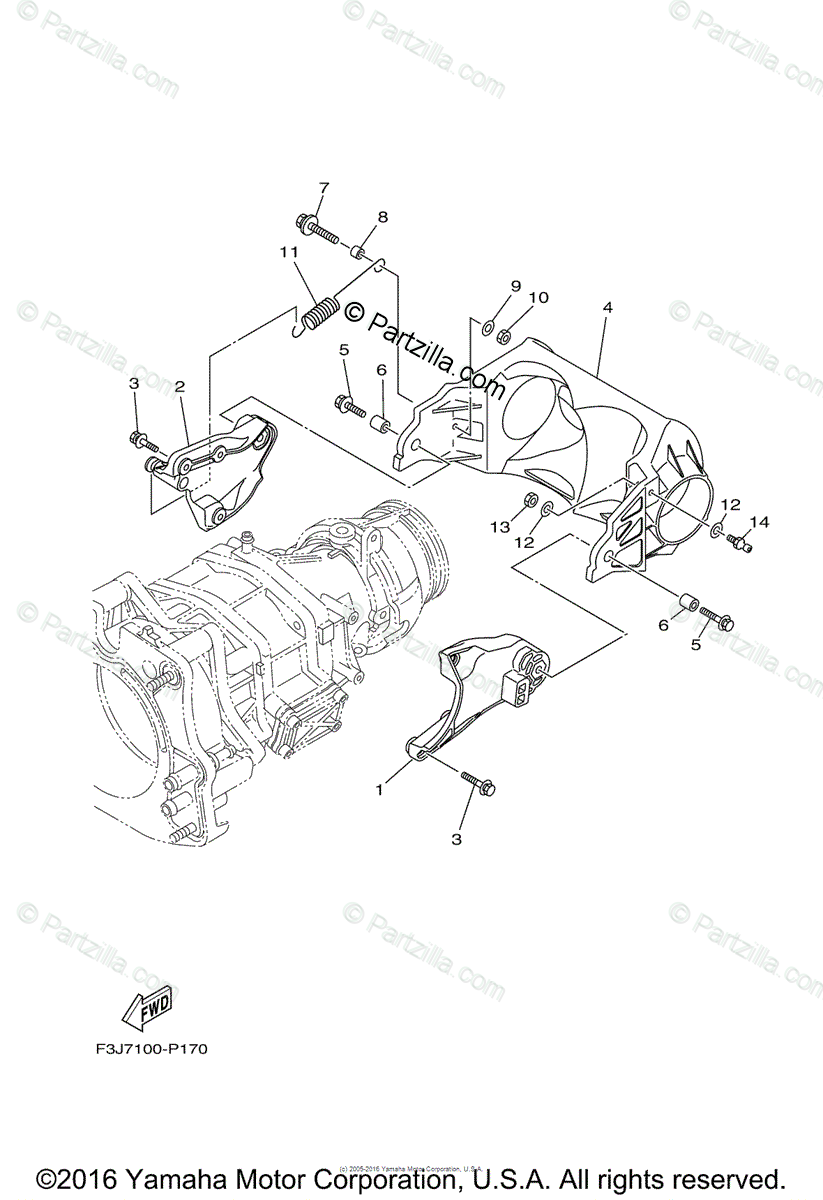 Yamaha Waverunner 2016 OEM Parts Diagram for Jet Unit 3