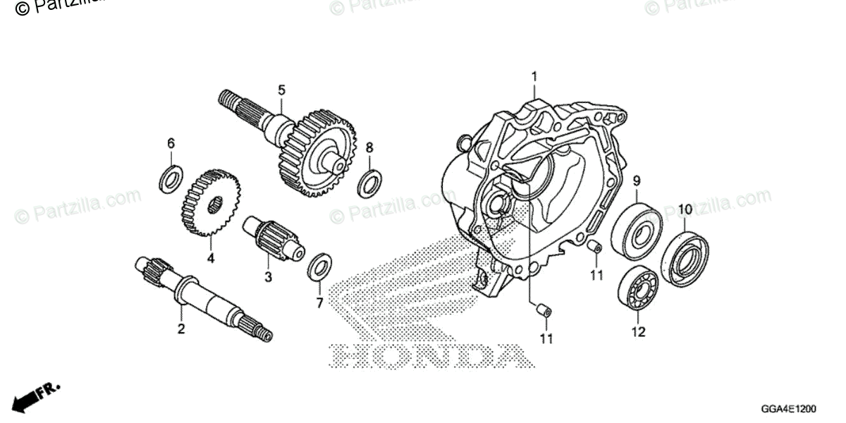 Honda Scooter 2018 OEM Parts Diagram for TRANSMISSION
