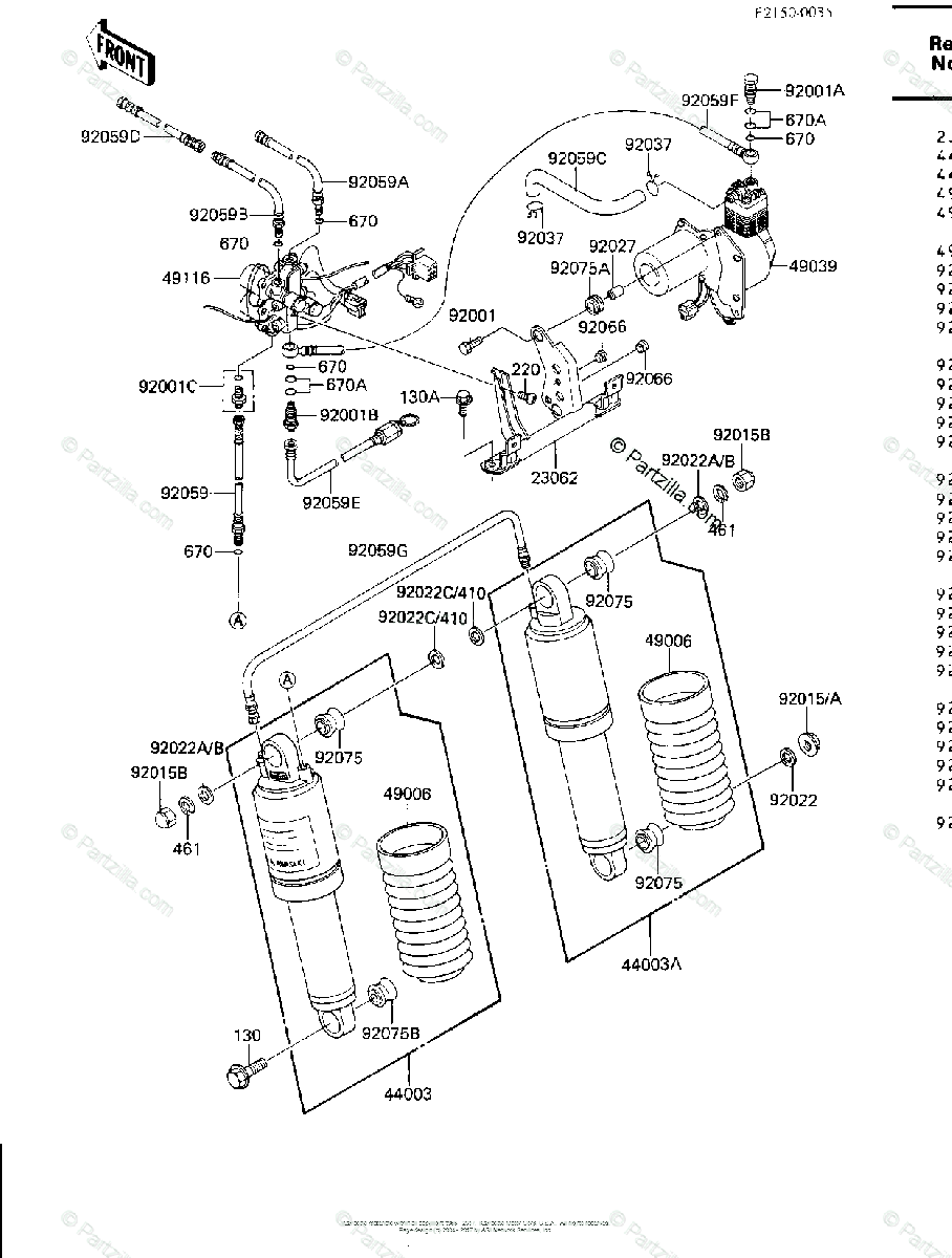 Kawasaki Motorcycle 1984 OEM Parts Diagram for AIR PUMP