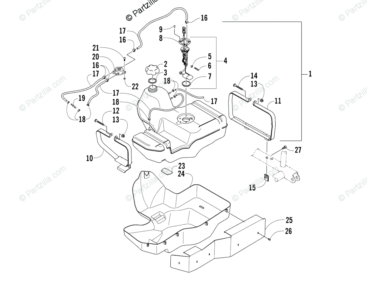 Arctic Cat 400 4x4 Parts Diagram