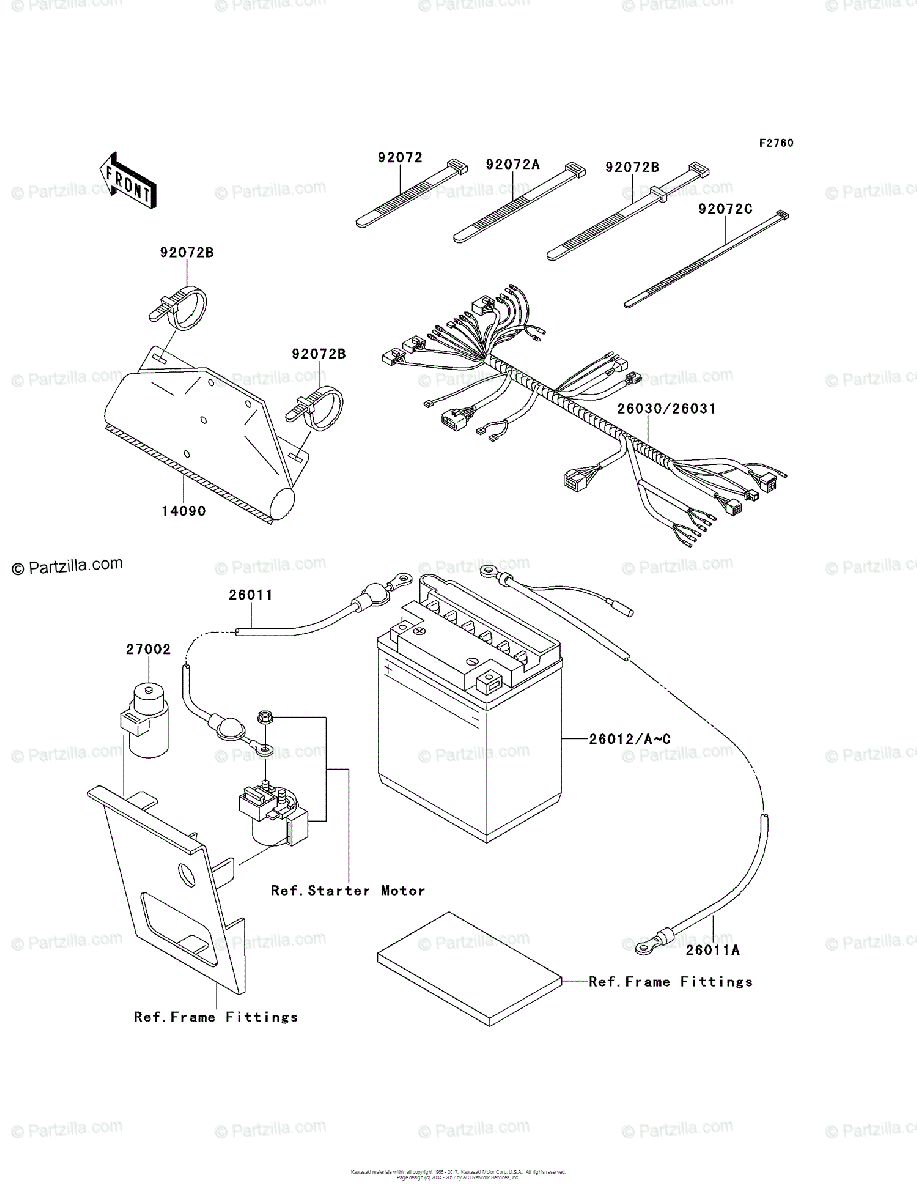 Kawasaki ATV 2004 OEM Parts Diagram for Chassis Electrical