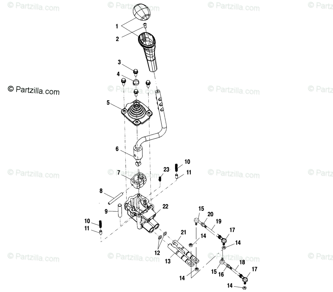 Polaris ATV 2001 OEM Parts Diagram for Gear Selector