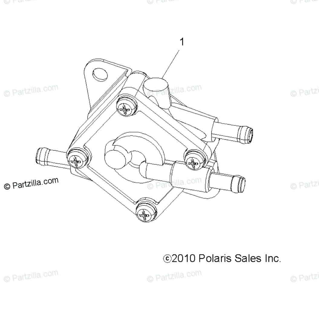 Polaris ATV 2013 OEM Parts Diagram for Engine, Fuel Pump