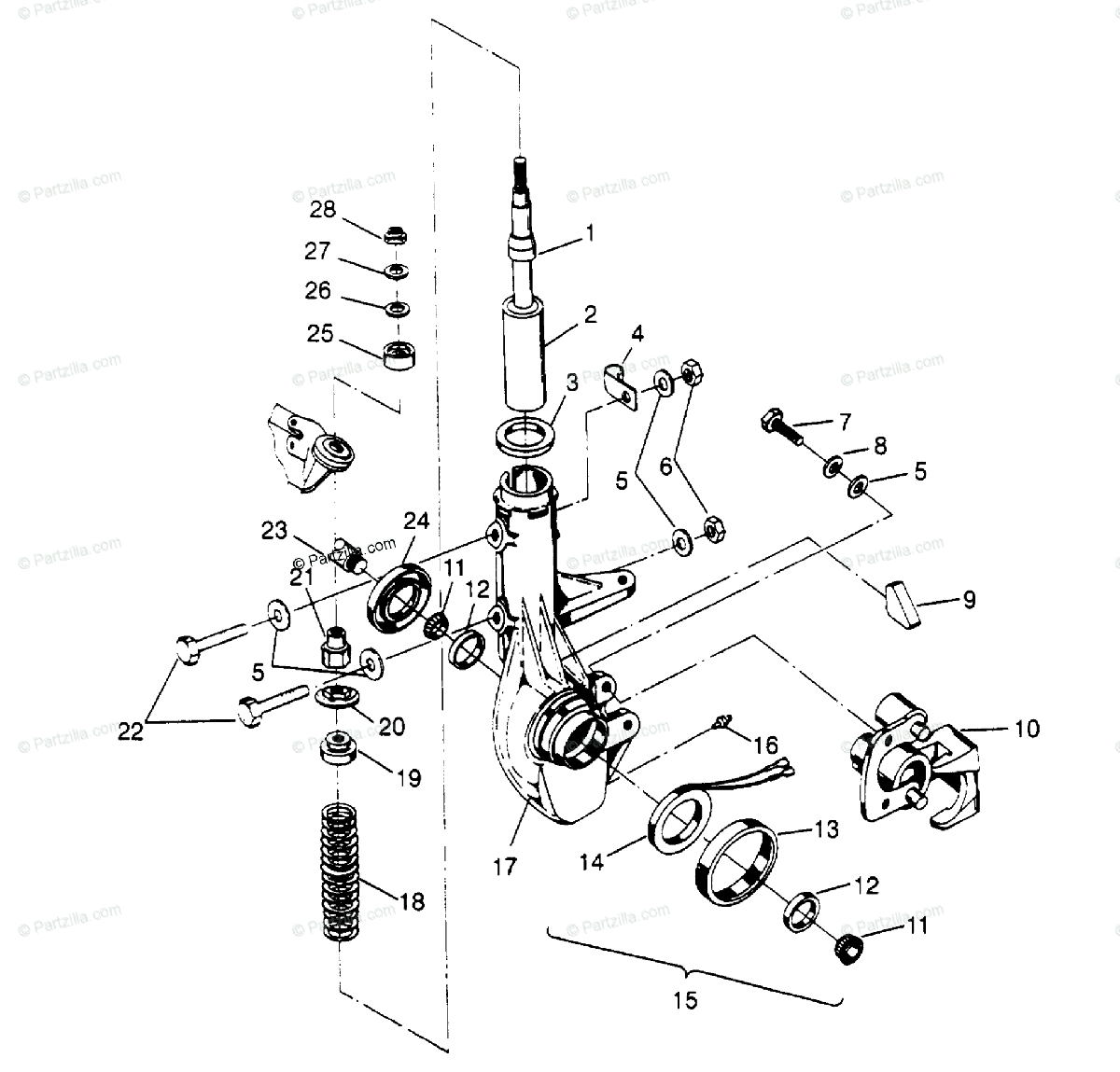 Polaris Atv Oem Parts Diagram For Front Strut