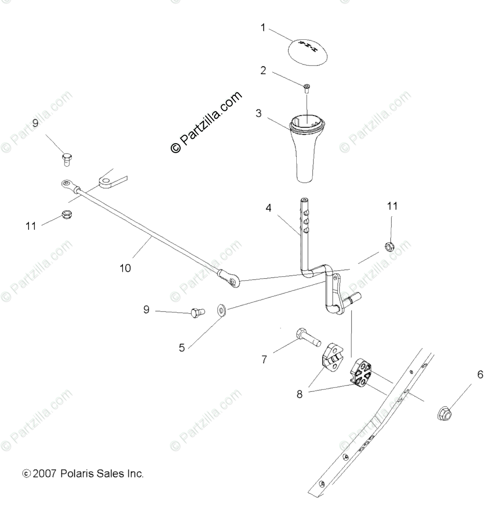 Polaris ATV 2009 OEM Parts Diagram for Drive Train, Gear