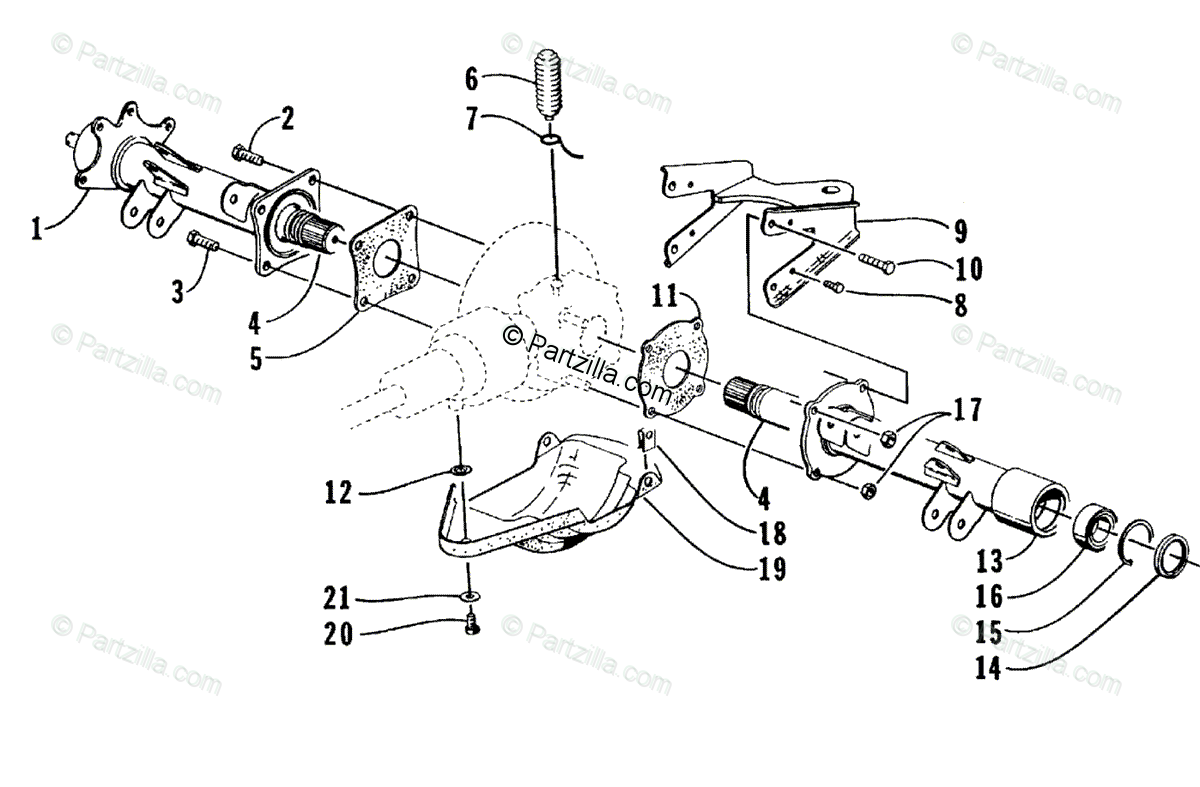 Arctic Cat 400 Parts Diagram