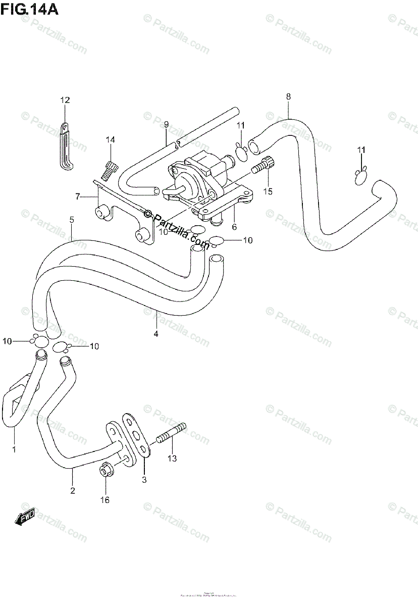Suzuki Motorcycle 2006 OEM Parts Diagram for 2ND AIR