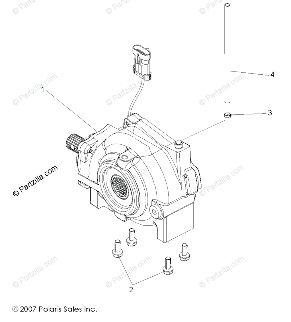 Polaris Side by Side 2009 OEM Parts Diagram for Drive