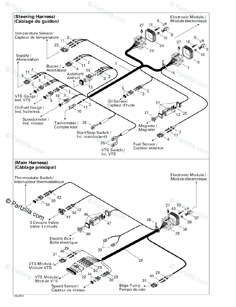 Sea-Doo 1999 XP LIMITED, 5868/5869 OEM Parts Diagram for