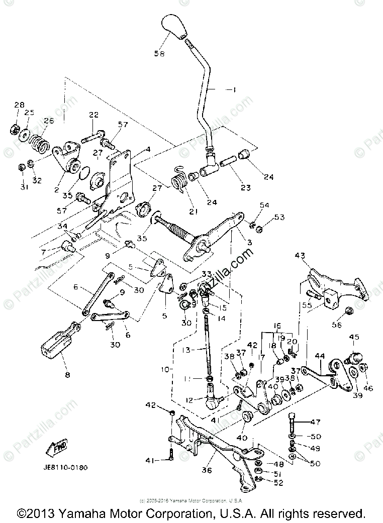 Yamaha Lawn Tractor 1990 OEM Parts Diagram for