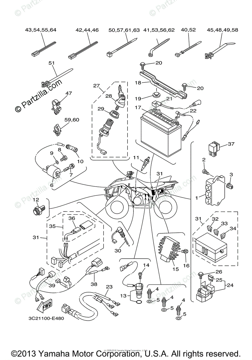 File: Yamaha Grizzly Wiring Diagram Electric