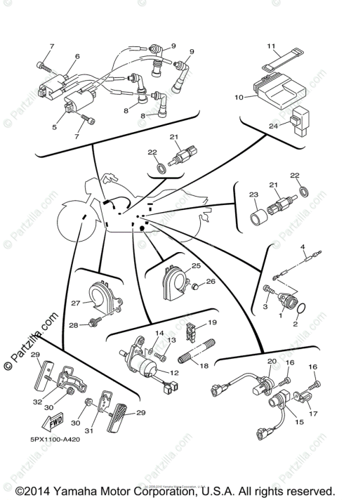 small resolution of yamaha motorcycle 2003 oem parts diagram for electrical 1 partzilla com