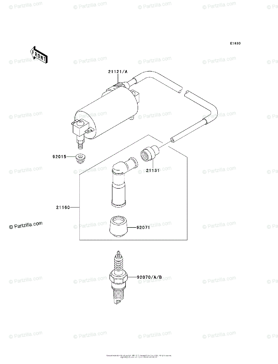 Kawasaki ATV 1997 OEM Parts Diagram for Ignition System