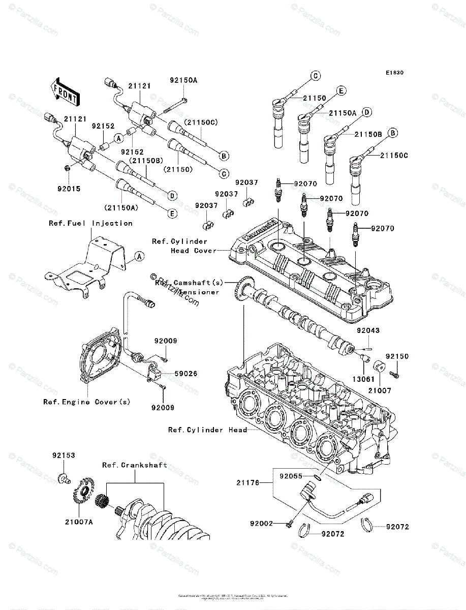Kawasaki Jet Ski 2011 OEM Parts Diagram for Ignition