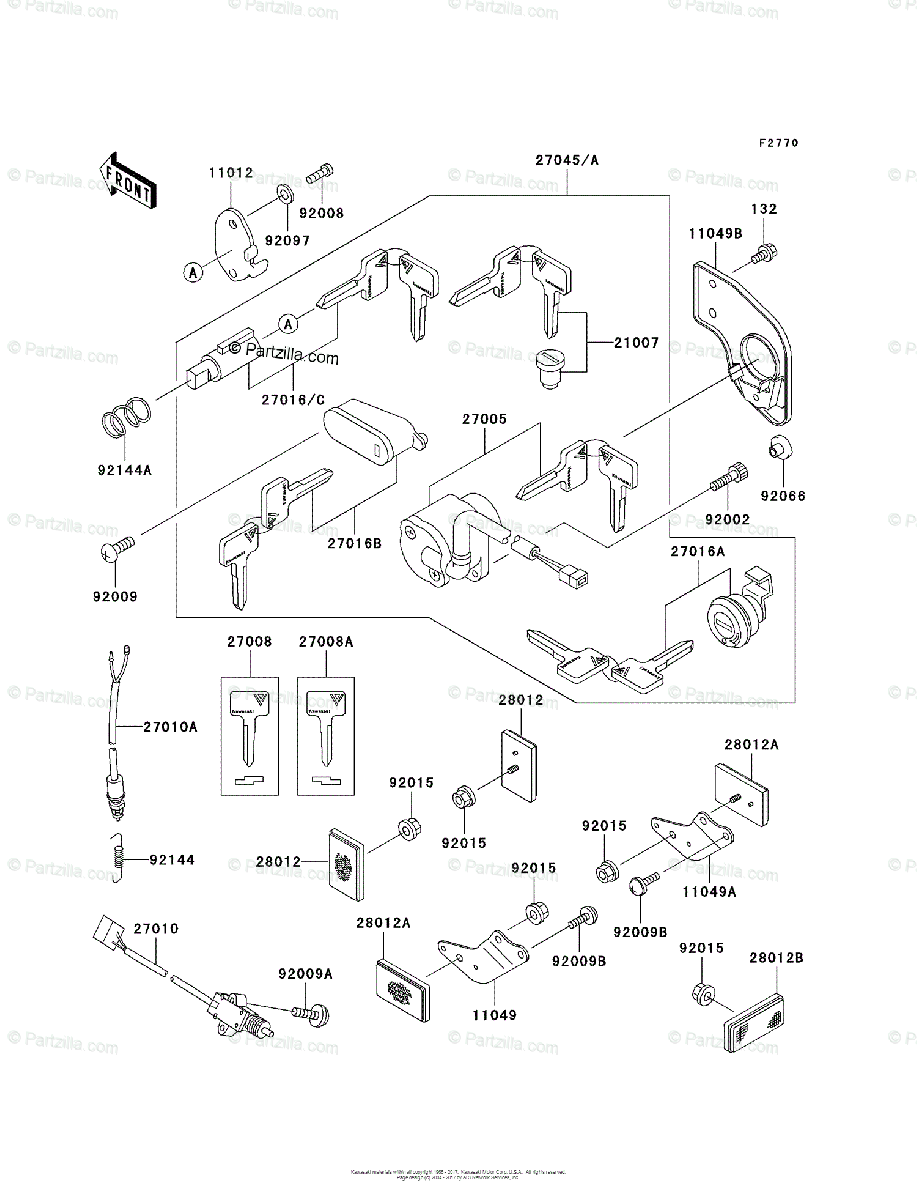Kawasaki Motorcycle 2002 OEM Parts Diagram for Ignition