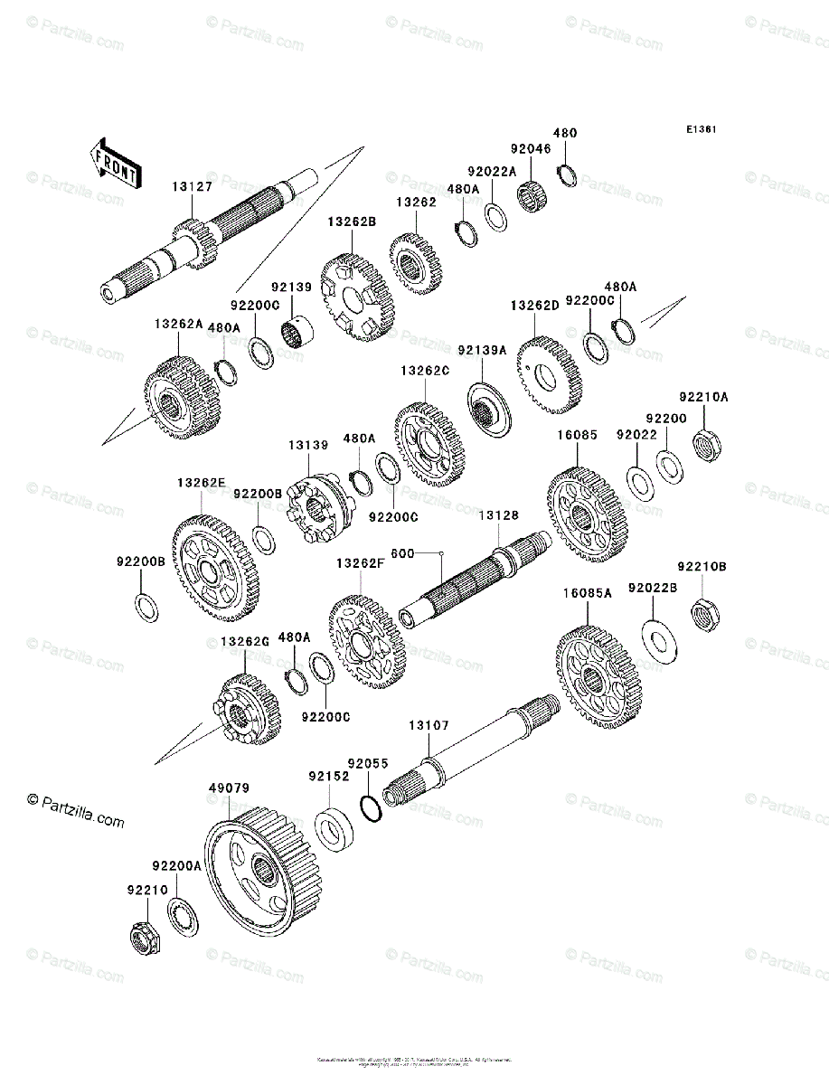 Kawasaki Motorcycle 2004 OEM Parts Diagram for