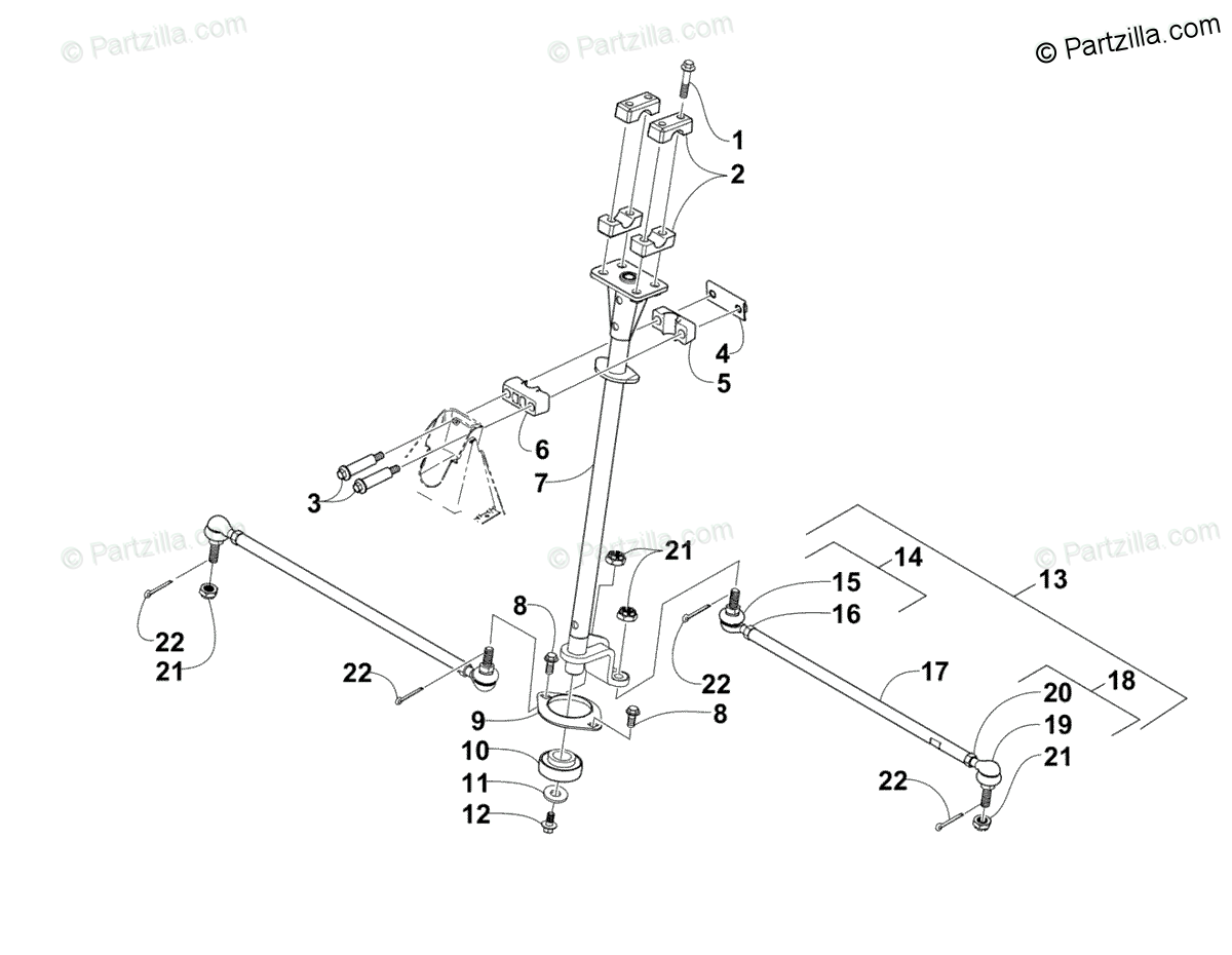 Arctic Cat ATV 2008 OEM Parts Diagram for Steering