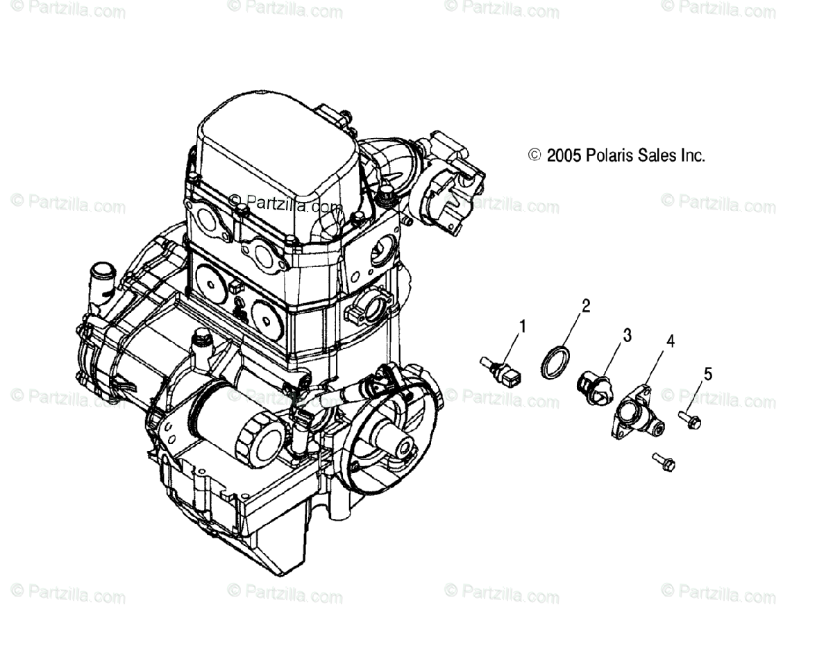 Polaris ATV 2007 OEM Parts Diagram for Engine, Manifold