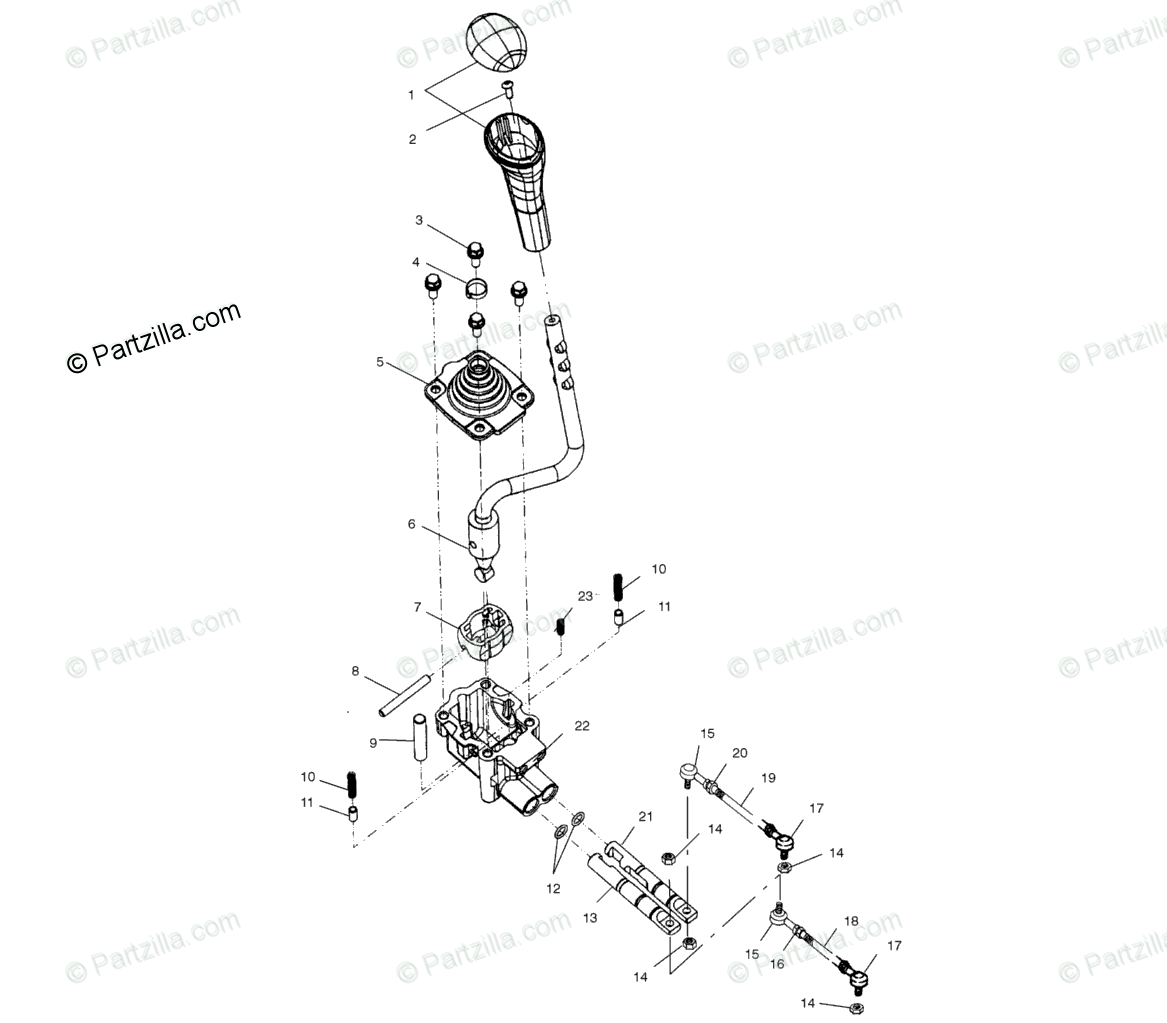 Polaris ATV 2002 OEM Parts Diagram for Gear Selector All