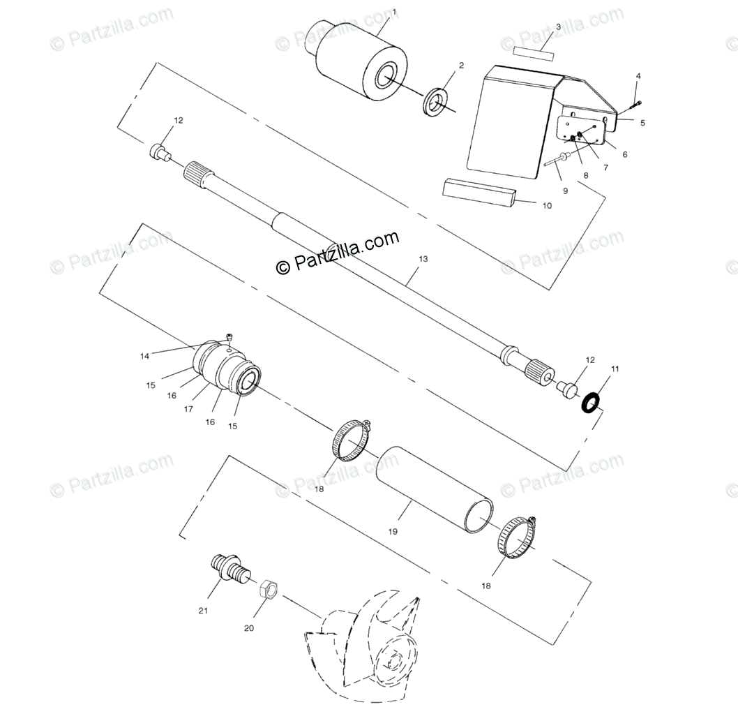 Polaris Watercraft 1999 OEM Parts Diagram for Drive System