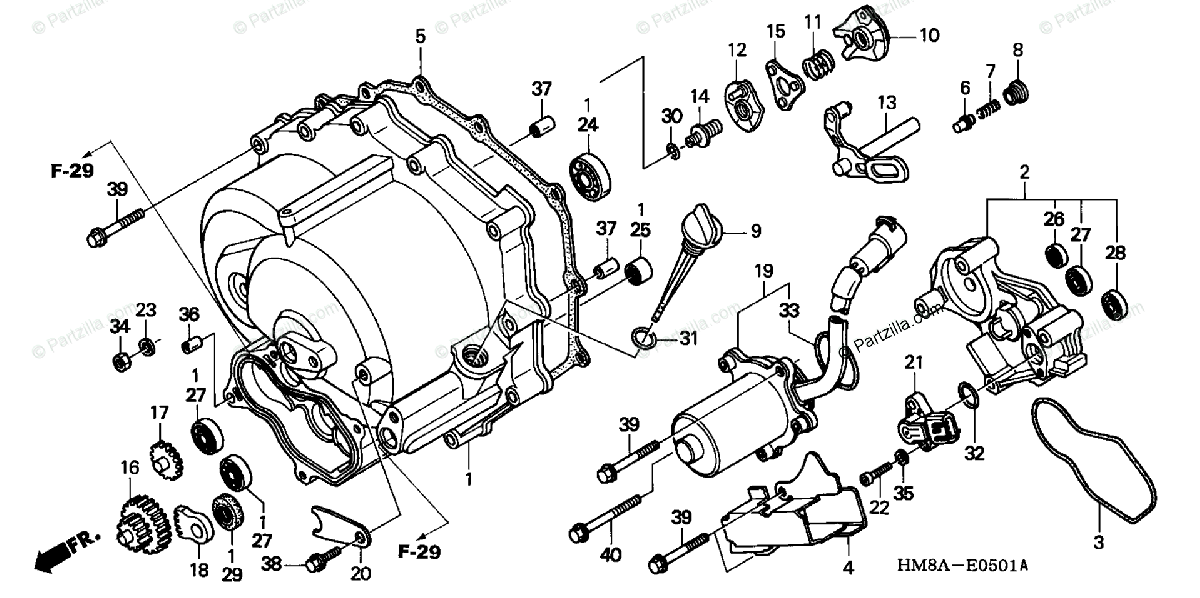 Honda ATV 2002 OEM Parts Diagram for Fropnt Crankcase