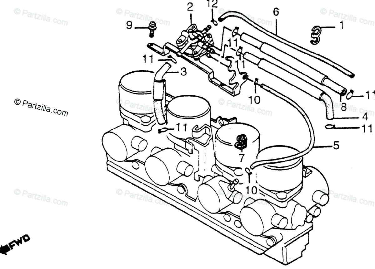 Honda Motorcycle Oem Parts Diagram For Automatic Fuel