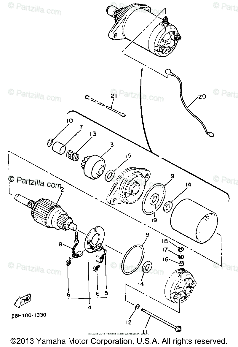 Yamaha Snowmobile 1991 OEM Parts Diagram for STARTING