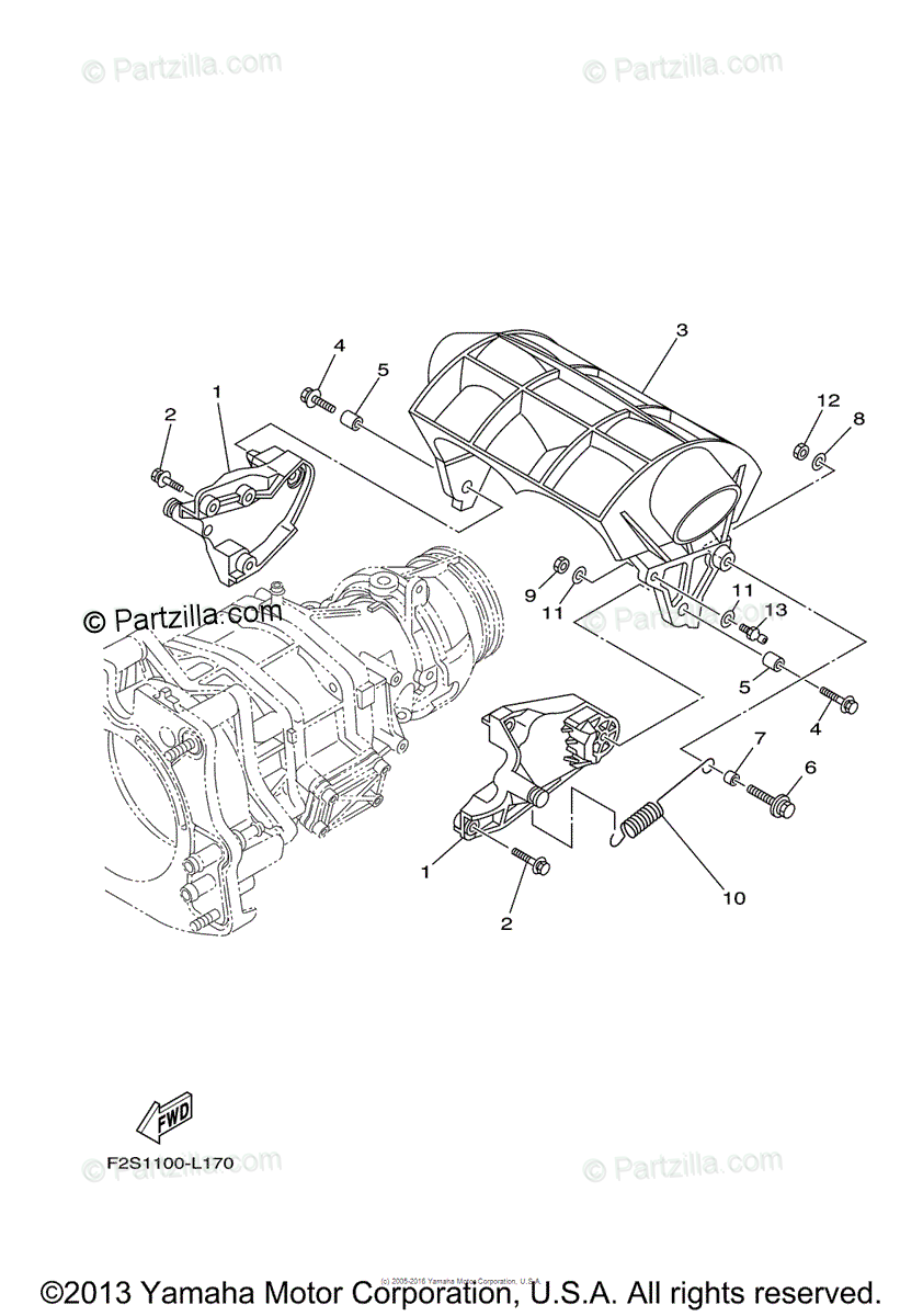 Yamaha Waverunner 2012 OEM Parts Diagram for Jet Unit 3